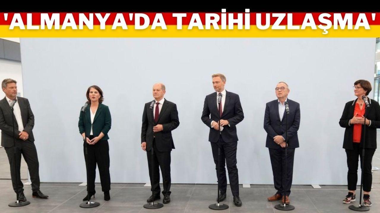 Almanya'da 3 parti ön anlaşmaya vardı