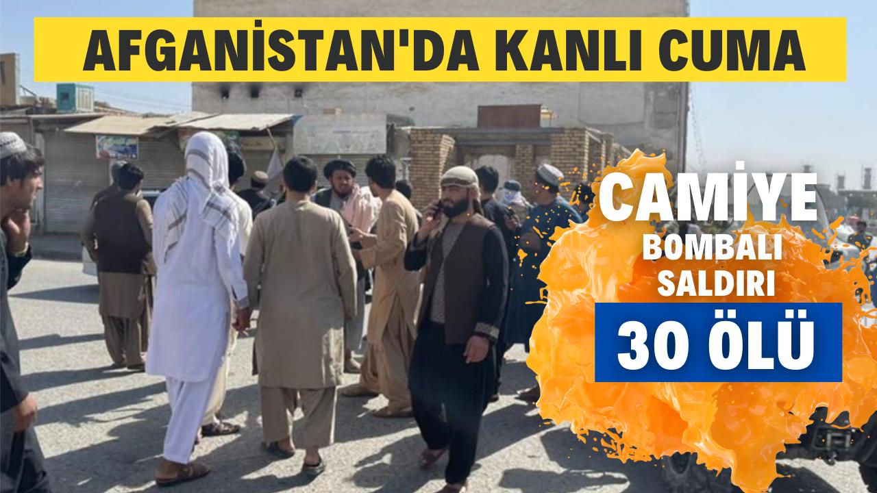 Afganistan'da camiye bombalı saldırı! 30 ölü!
