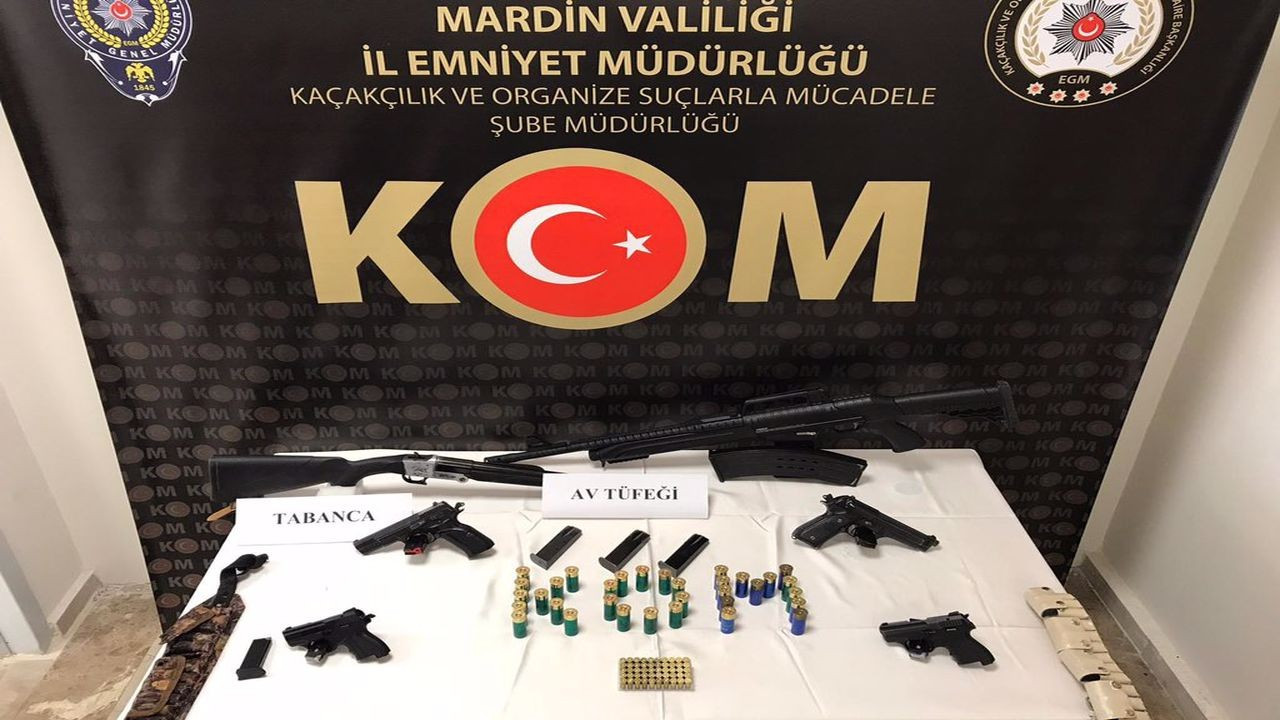 Mardin'de silah kaçakçılığı, 7 zanlı tutuklandı