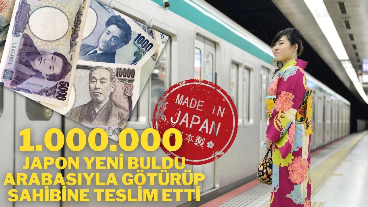 1.000.000 Japon Yeni buldu, arabasıyla götürüp sahibine teslim etti.