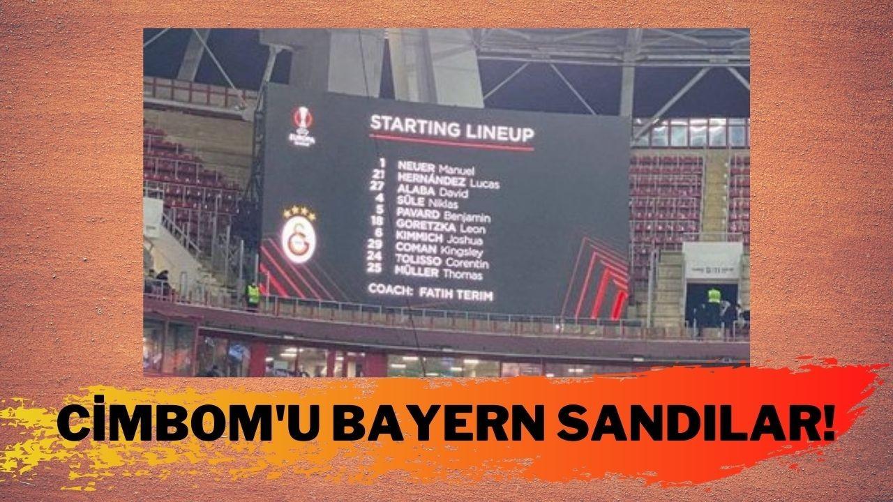 Galatasaray'ı Bayern Münih zannettiler!