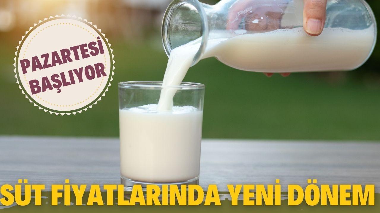 Süt fiyatlandırılmasında yeni dönem pazartesi başlıyor