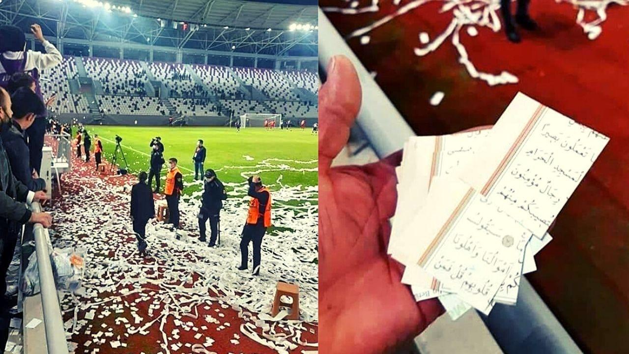 Ordu'da futbol maçında tepki çeken konfetiler nedeniyle 4 kişi gözaltına alındı