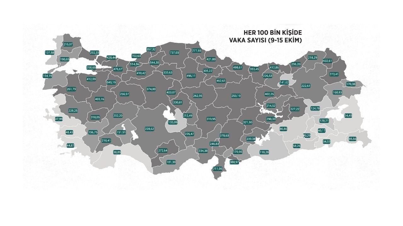 Kovid-19 vaka sayıları yurt genelinde artıyor! O illerin sayısı 56'ya yükseldi