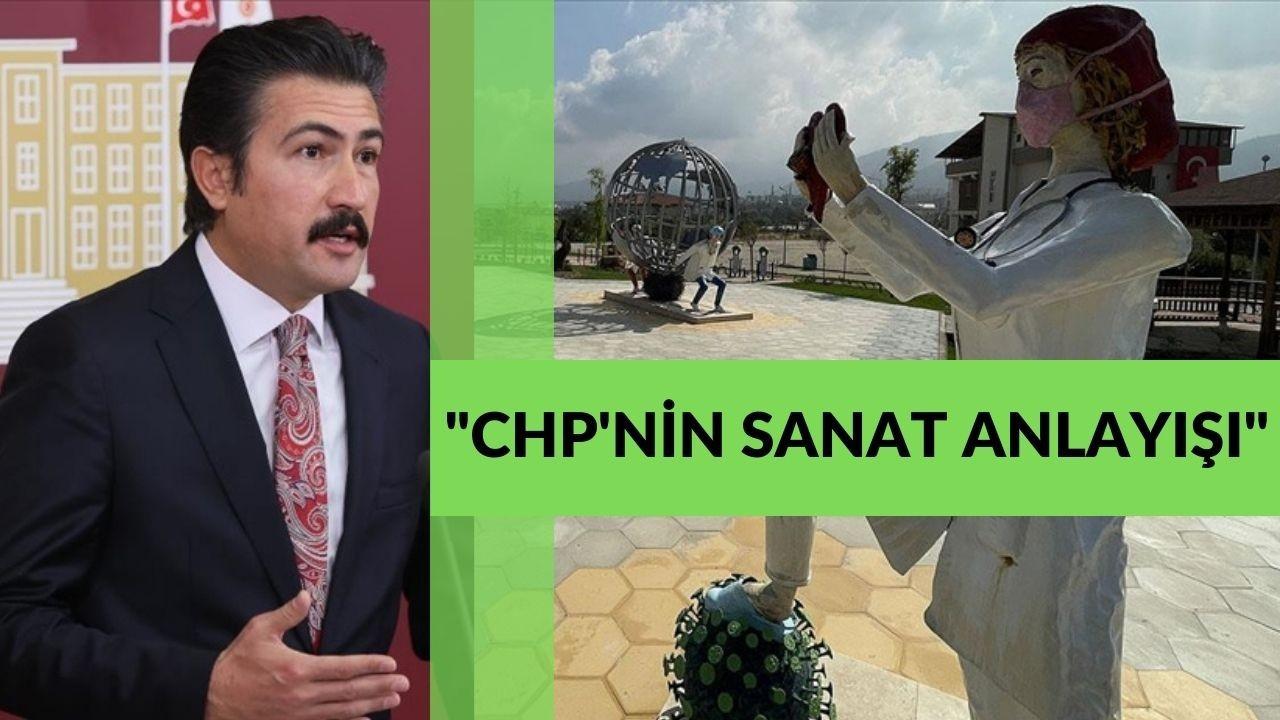 """AK Parti'li Özkan, tartışılan """"sağlıkçı heykellerinin"""" kaldırılmasını istedi"""