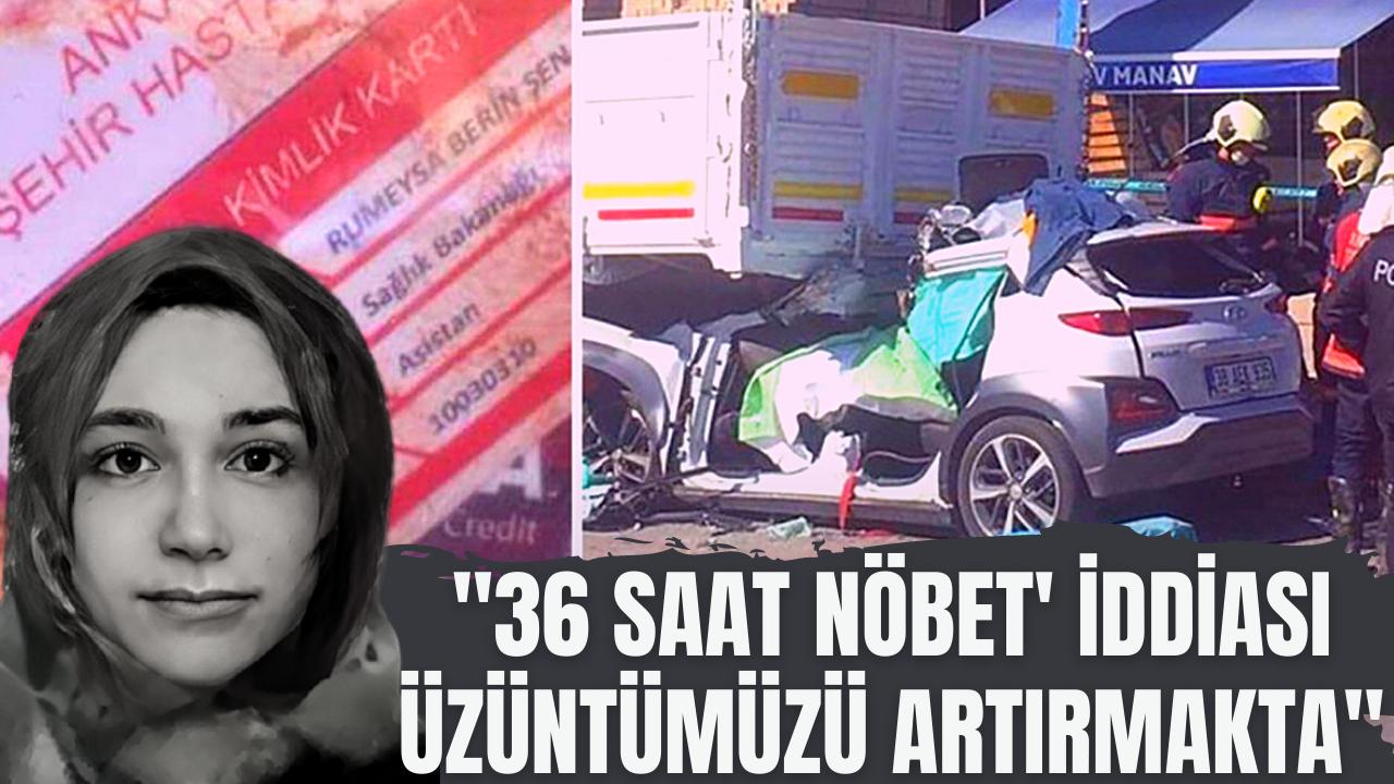 Ankara Şehir Hastanesi'nden Rümeysa Berin Şen açıklaması
