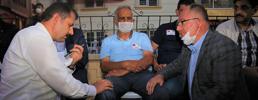 Başkan Erdoğan'dan şehit babasına taziye